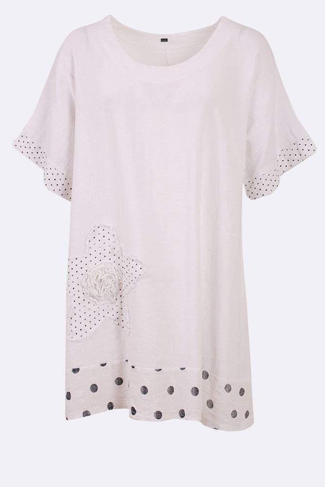Dotted Applique Star Top