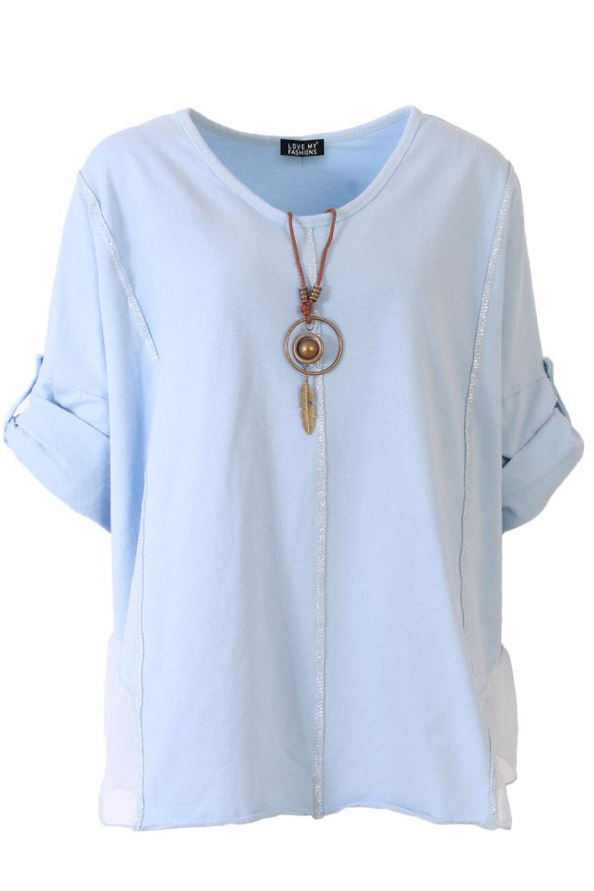 Wholesale Necklace Cotton Paneled Top