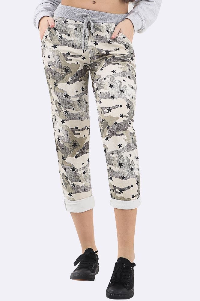 Camouflage Star Printed Lined Trouser