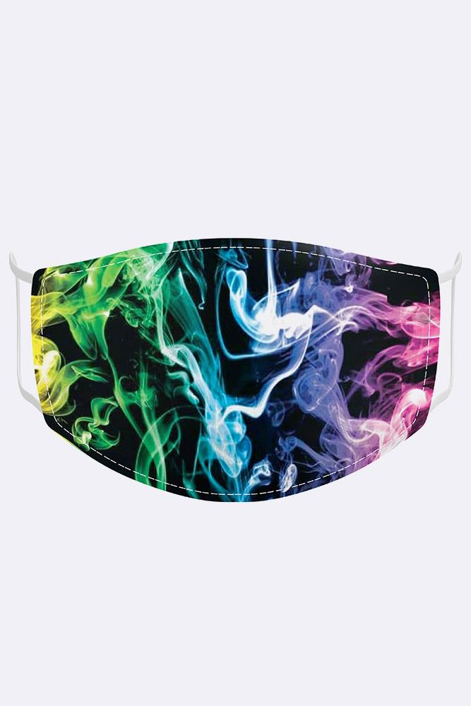 Unisex Multicolour Flames Digital Print 2 Ply Cotton Face Mask Cover