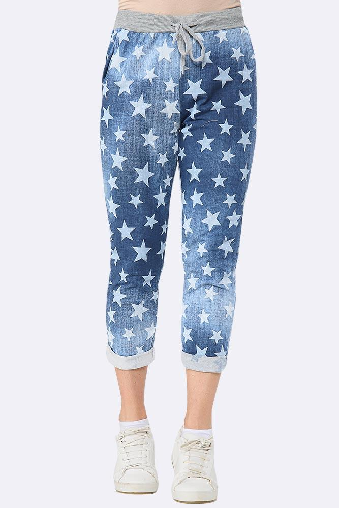Small Star Printed Drawstring Trouser