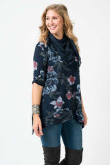 Wholesale Cotton Button Tab Floweret-patterned Top