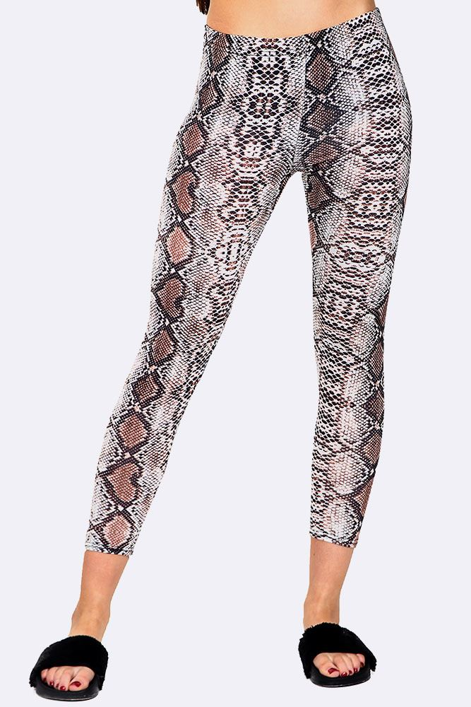 Snake Print Full Length Leggings