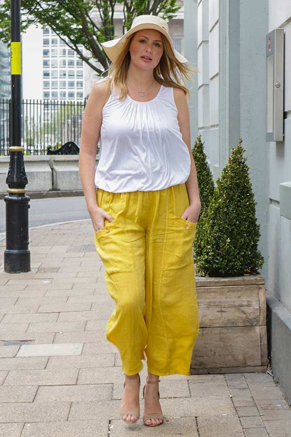 Wide Leg Pocket Trousers