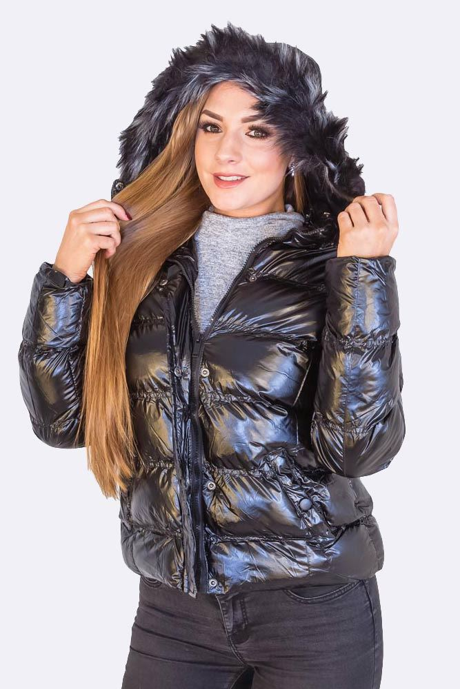 Ladies Brave Soul High Shine Jacket