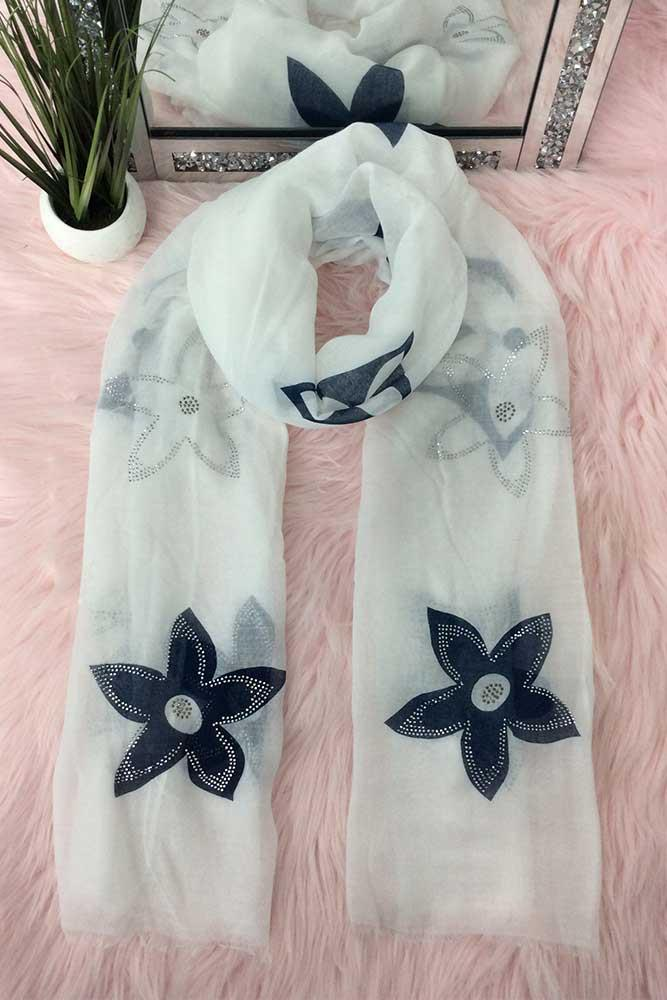 Applique Flowers Scarves
