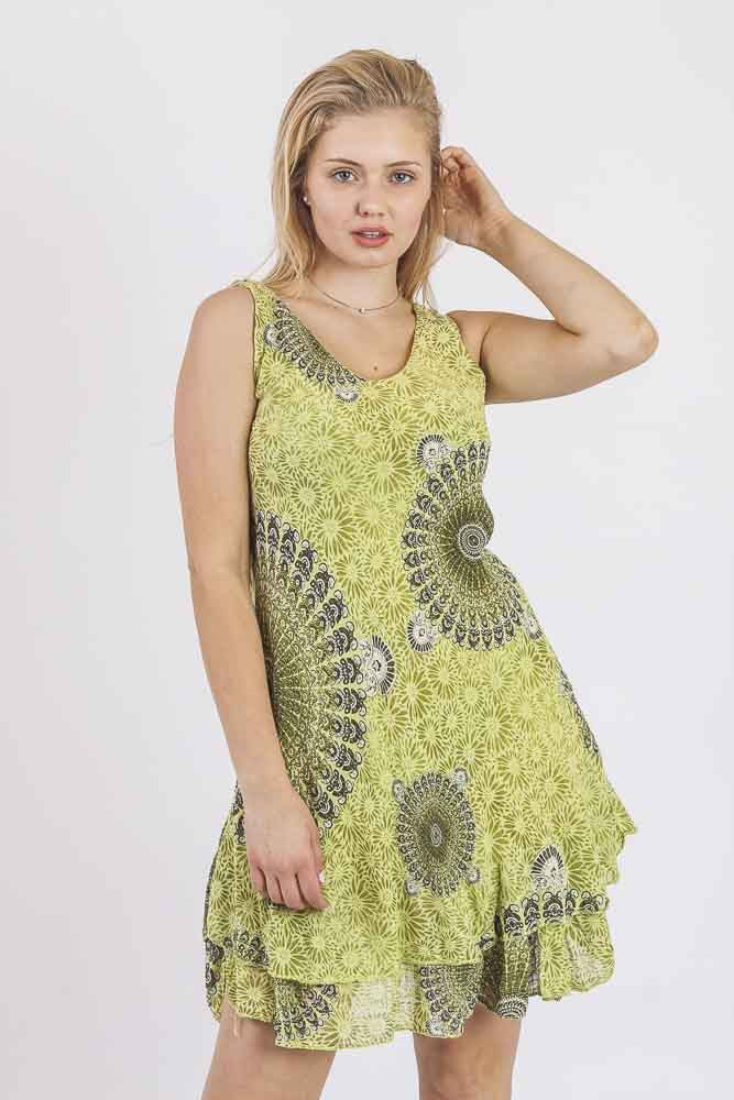 Mixed Mandala Tiered Dress