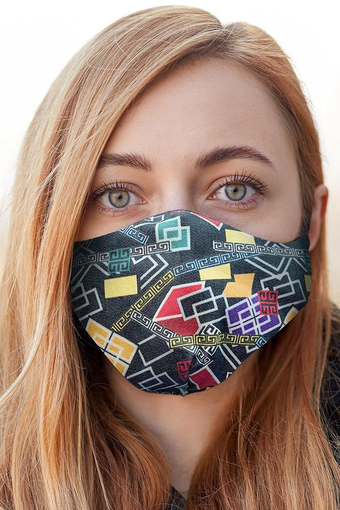 Abstract Print Fashion Face Mask Cover