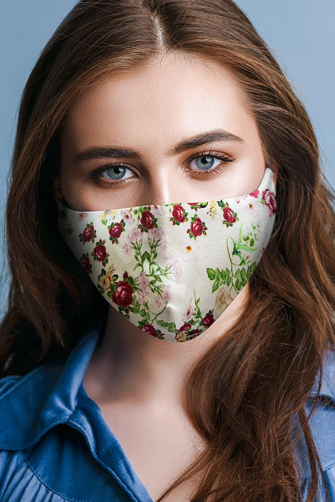 Rose Print Fashion Face Mask Cover