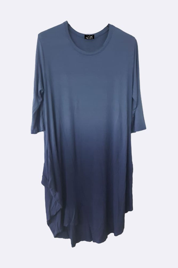 Split Asymmetric Hem Ombre Dress