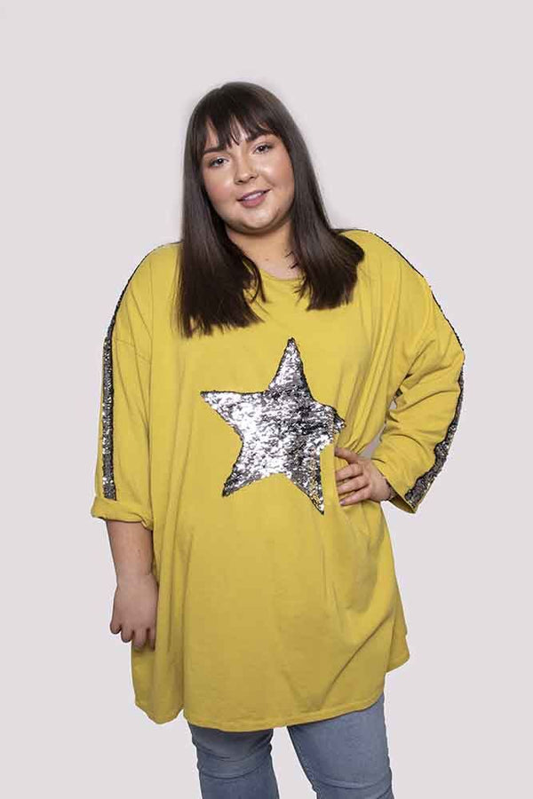 Sequin Star Cotton Top