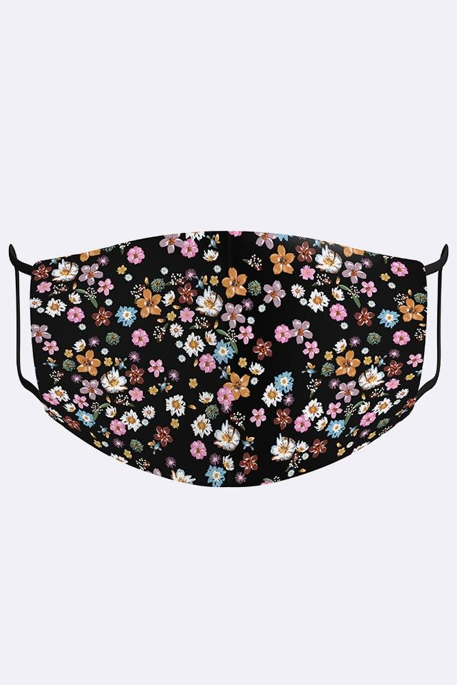 Multi Colorful Blossom Print Digital 2 Ply Cotton Face Mask Cover