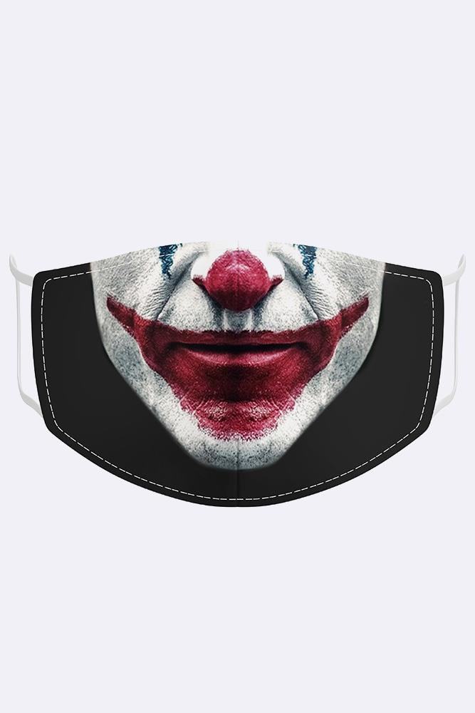 Unisex Joker Digital Print 2 Ply Cotton Face Mask Cover