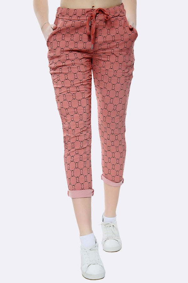Italian Seamless Dotted Pattern Trousers