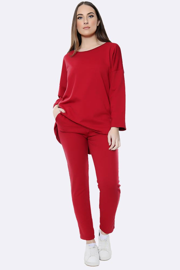 Italian Plain Fine Knit Loungewear Set