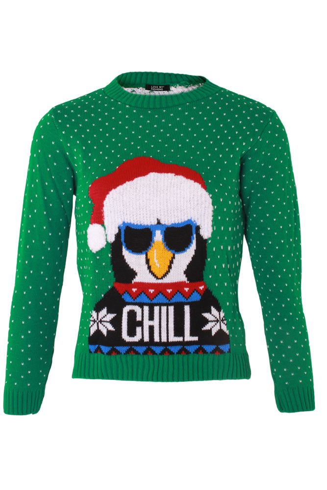 Wholesale Kids Knitted Chill Christmas Jumper (Pack Of 8)