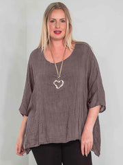 Wholesale Textured Linen Baggy Top