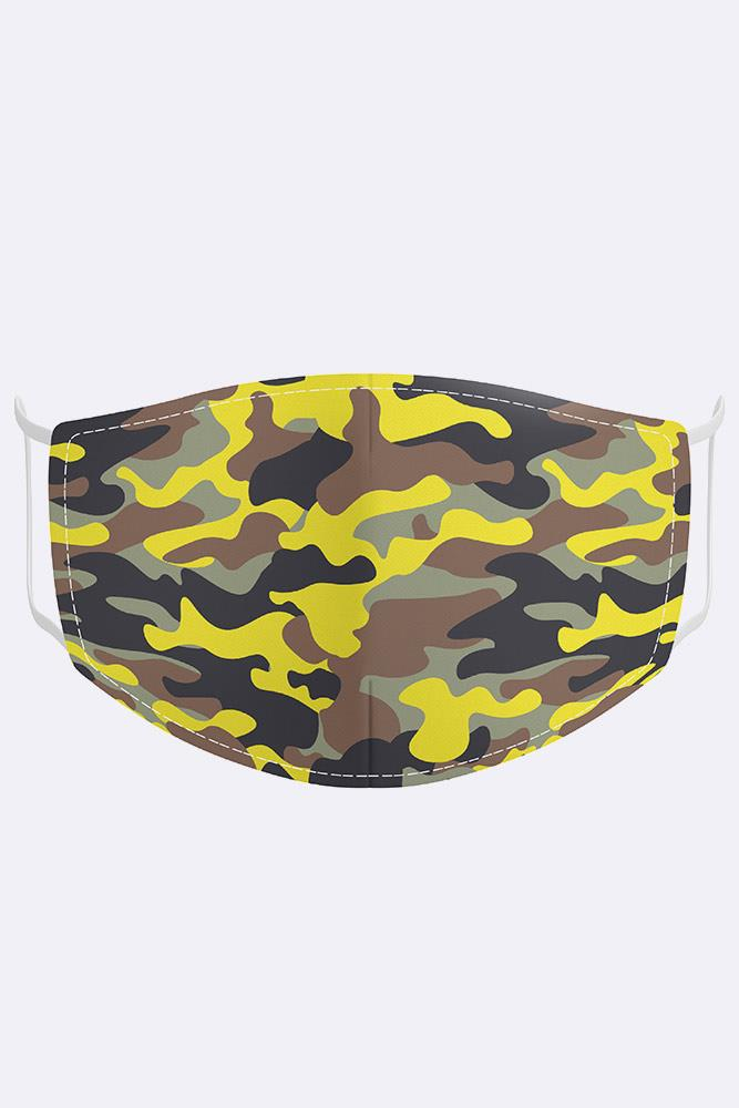 Unisex Camouflage Digital Print 2 Ply Cotton Face Mask Cover
