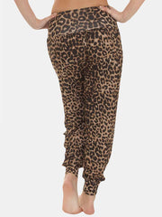 Wholesale Ali Baba Leopard Brown Full Length Harem Trousers (Pack Of 6)