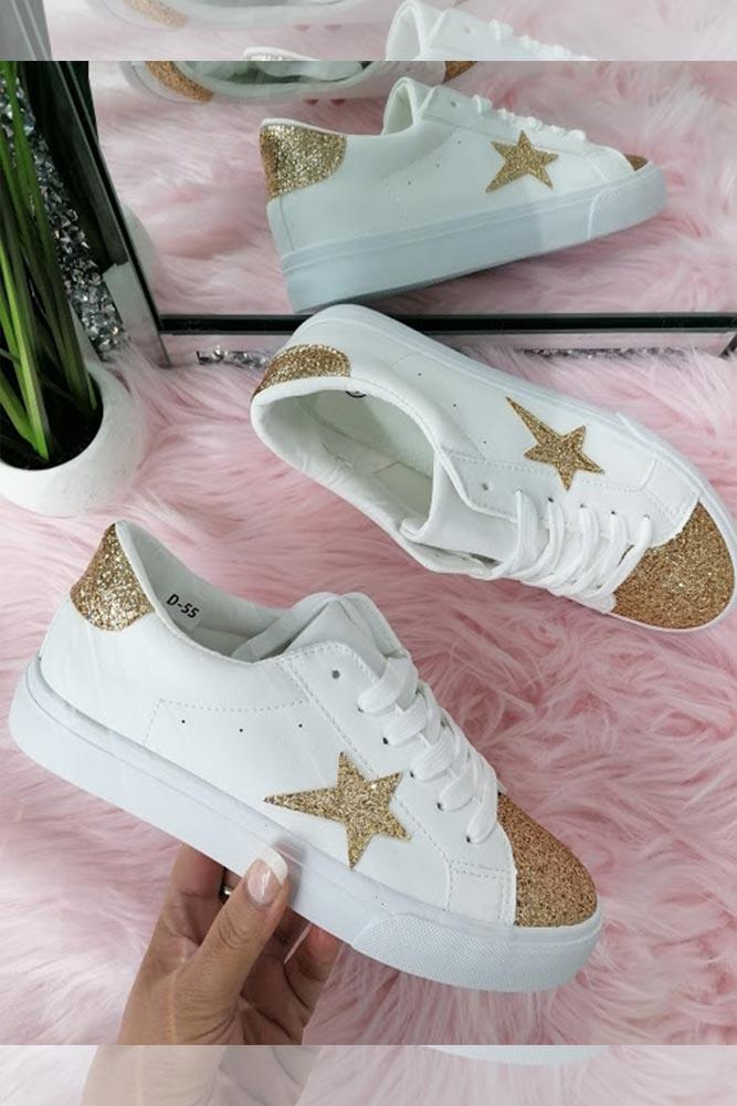 Tinsel Star Motif & Toe Trainers