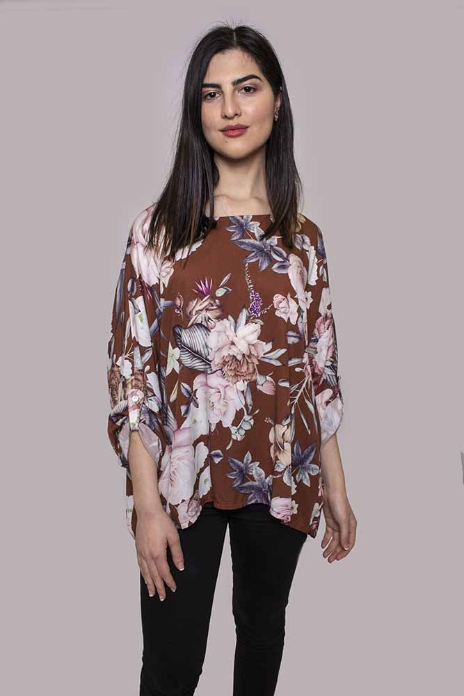 Wholesale Batwing Floral Top