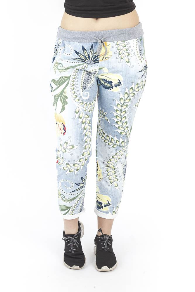 Wholesale Tropical Paisley Drawstring Multi Style Trouser