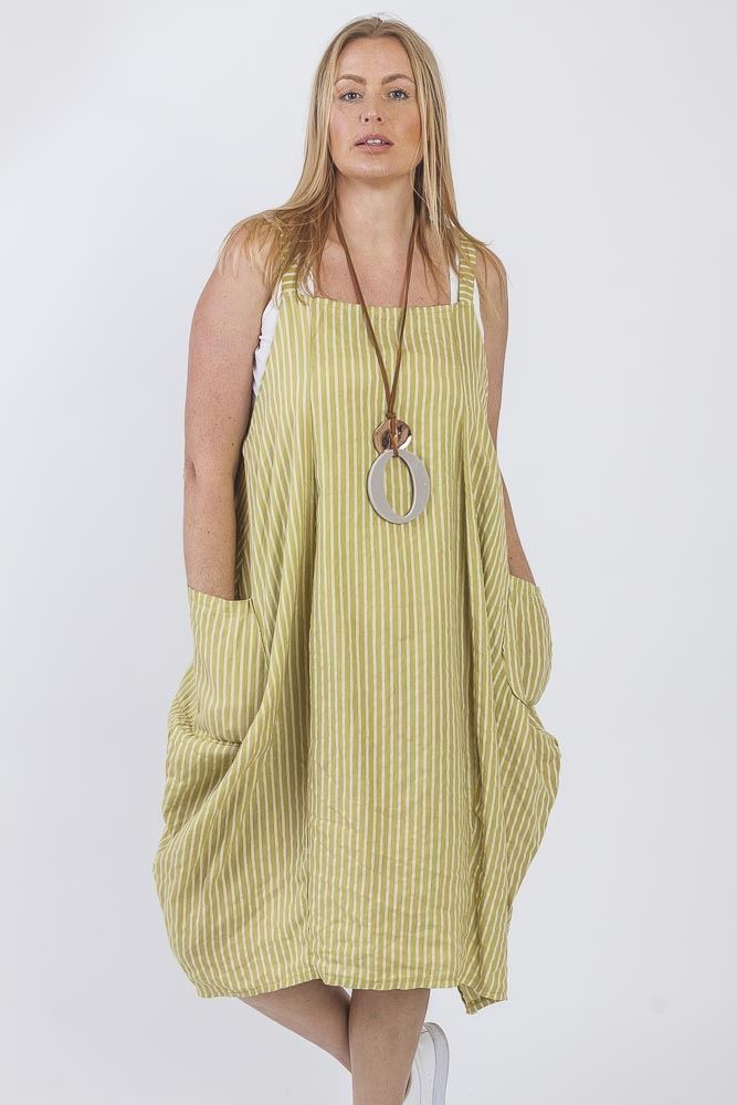 Stripe Bubble Hem Dress