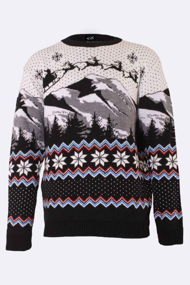 Wholesale Knitted Gingle Bells Aztec Christmas Jumper