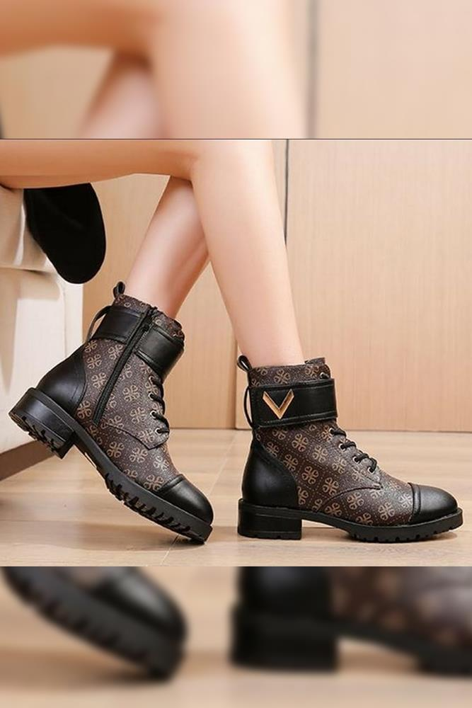 Chique Logo Lace Up Boot