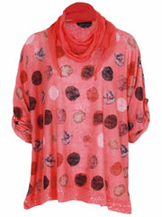 Wholesale Spot Print Panel Scarf Top
