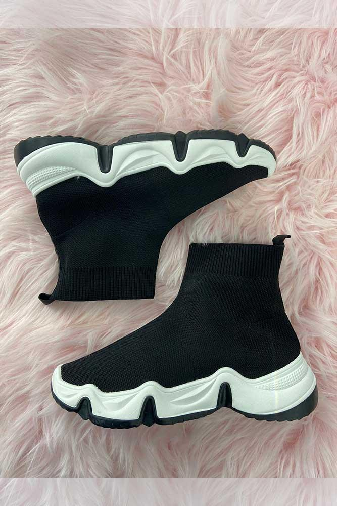 Women High Top Sock Trainers