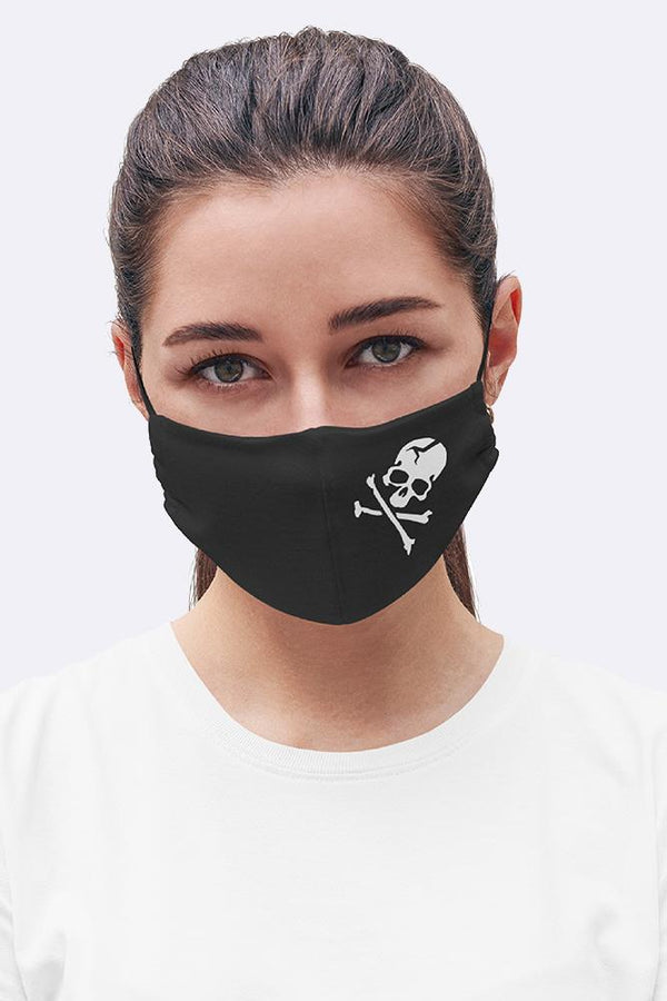 Skull & Bones Print Fashion Face Mask