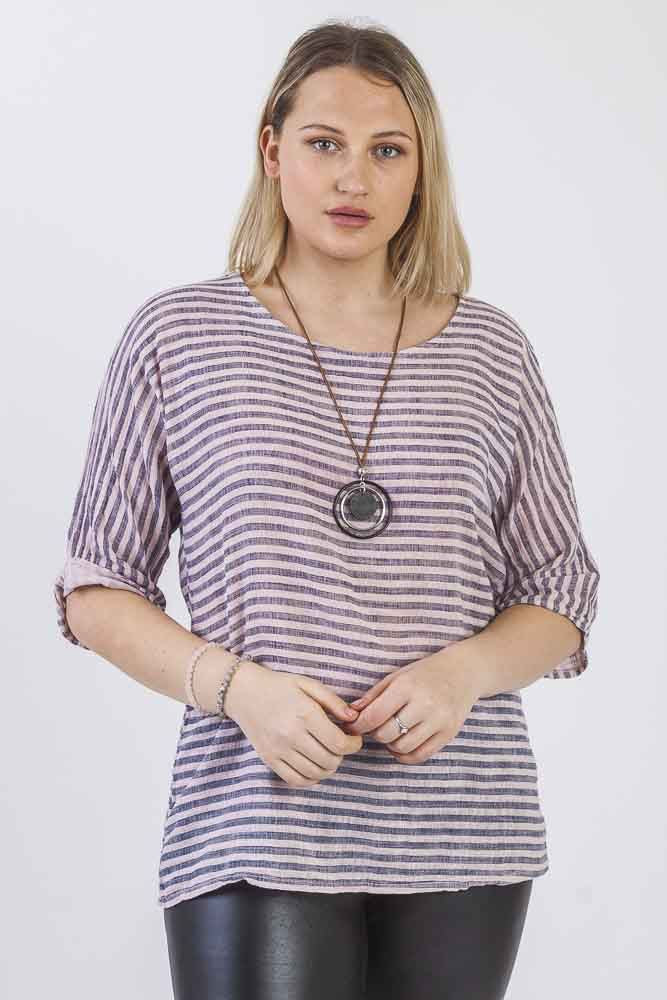 Stripe Necklace Top