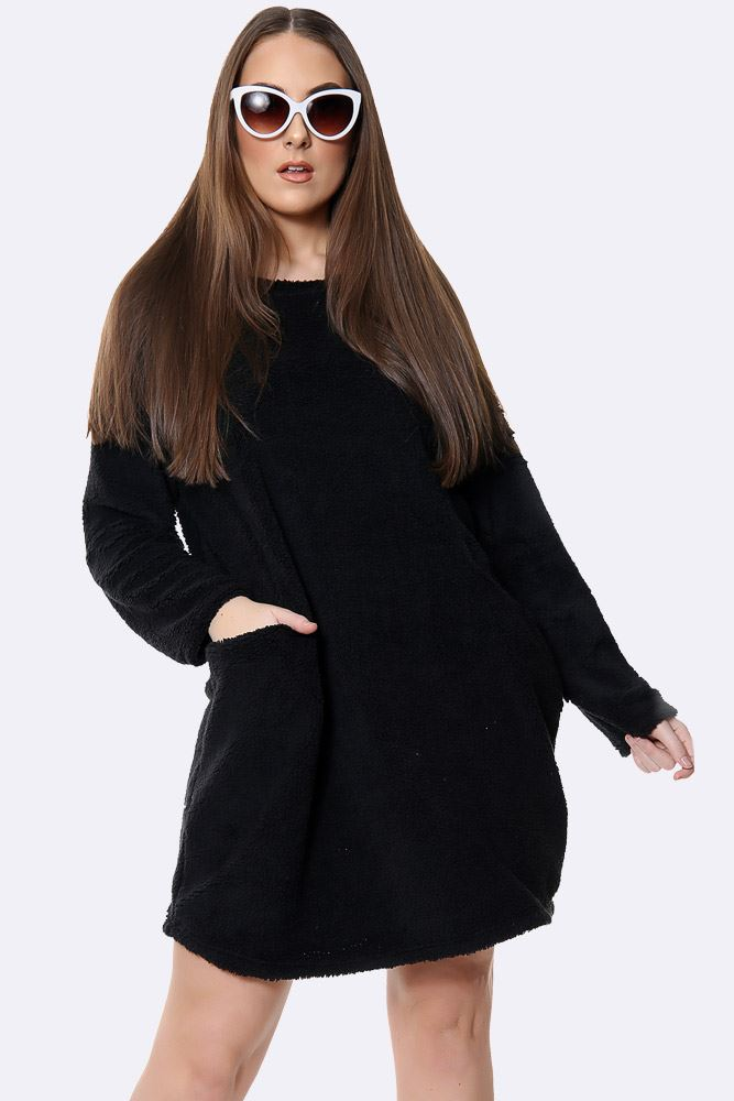 Italian Fluffy Plain Oversized Top