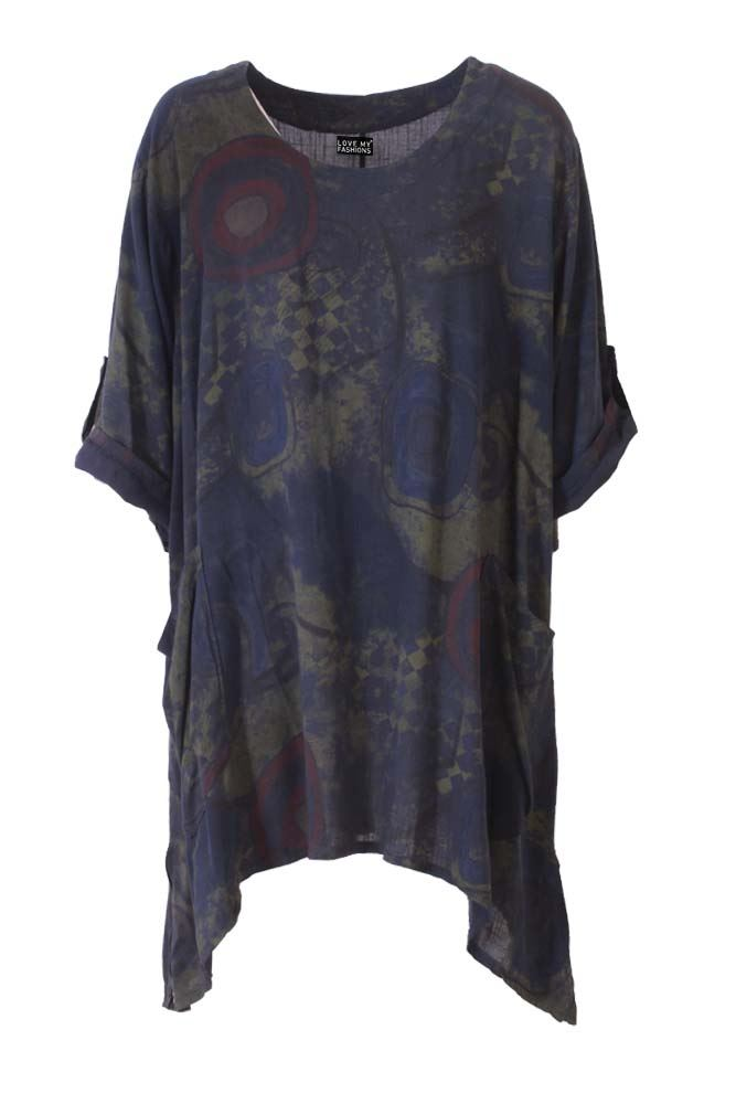 Wholesale Abstract Circle Cotton Hanky Top