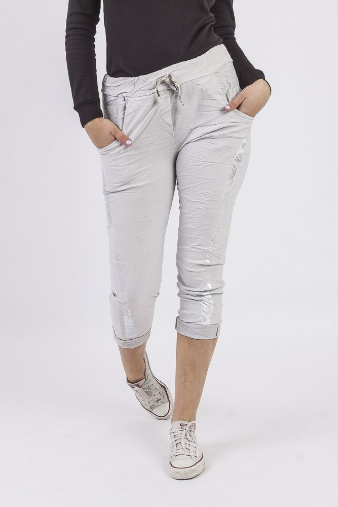 Metallic Hgenteel Stretch Trousers