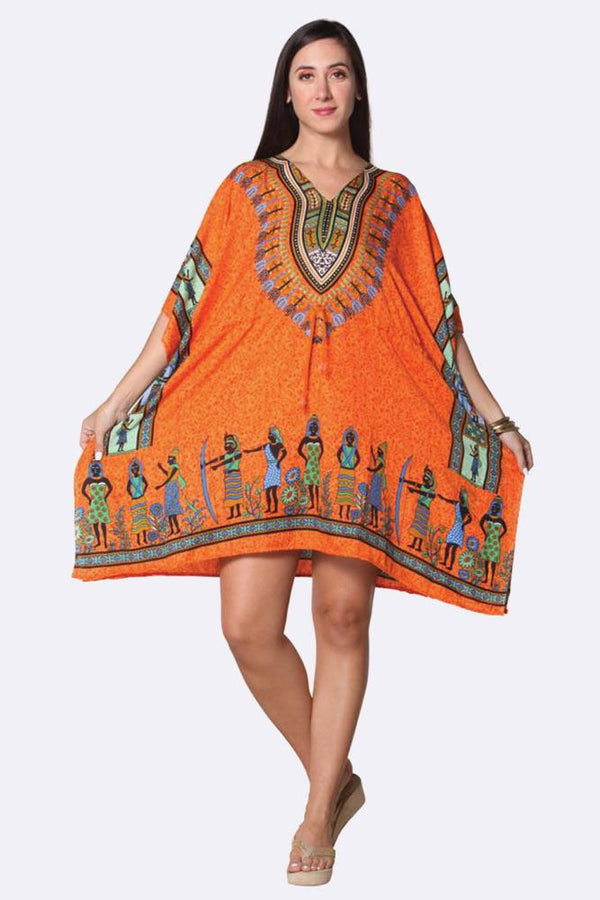 Tribal Print Short Kaftan