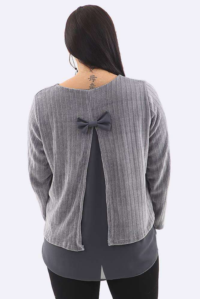 Bow Back Stripes Layered Top