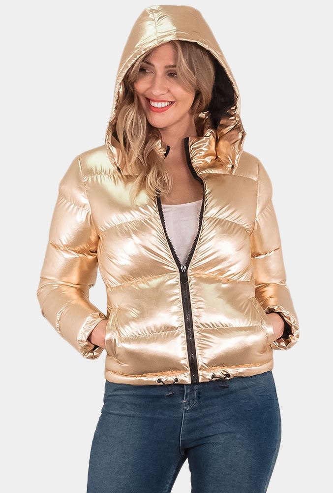 Ladies Brave Soul Metallic Padded Jacket