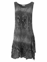 Wholesale Textured Layered Paisley Print Dress