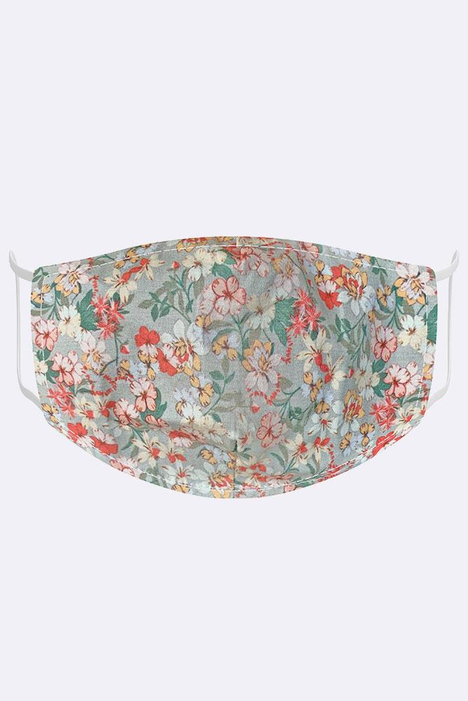 Mini Floral Blossom Print Cotton Face Masks Cover