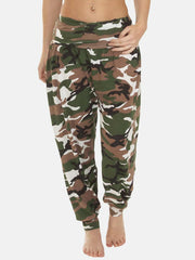 Wholesale Ali Baba Camouflage Print Full Length Harem Trousers (Pack Of 6)