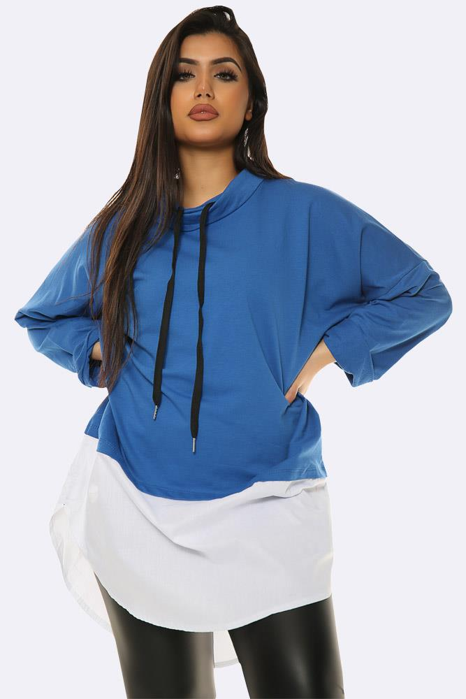 Drawstring Neck Italian Mock Top