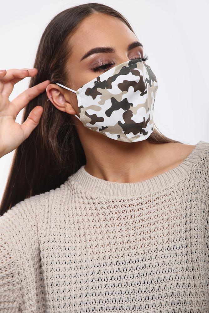 Camouflage Print Cotton Face Mask Cover