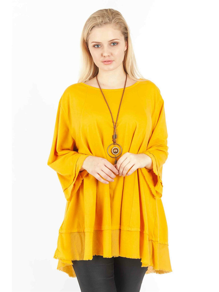 Wholesale Pendant Raw Hem Necklace Top