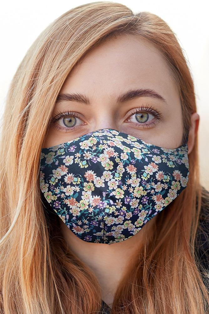 Mix Floral Print Fashion Face Mask Cover