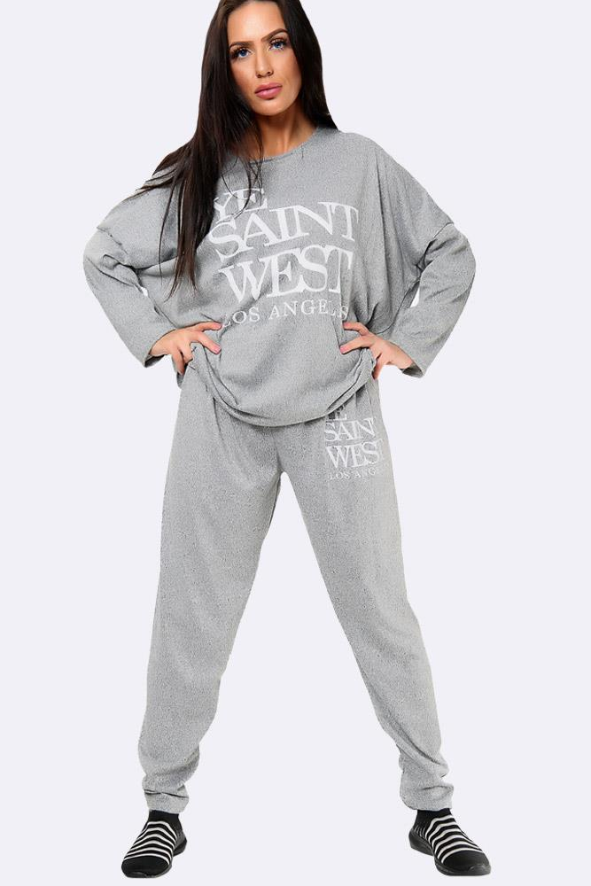 Ye Saint West Print Malr Italian Loungewear Set
