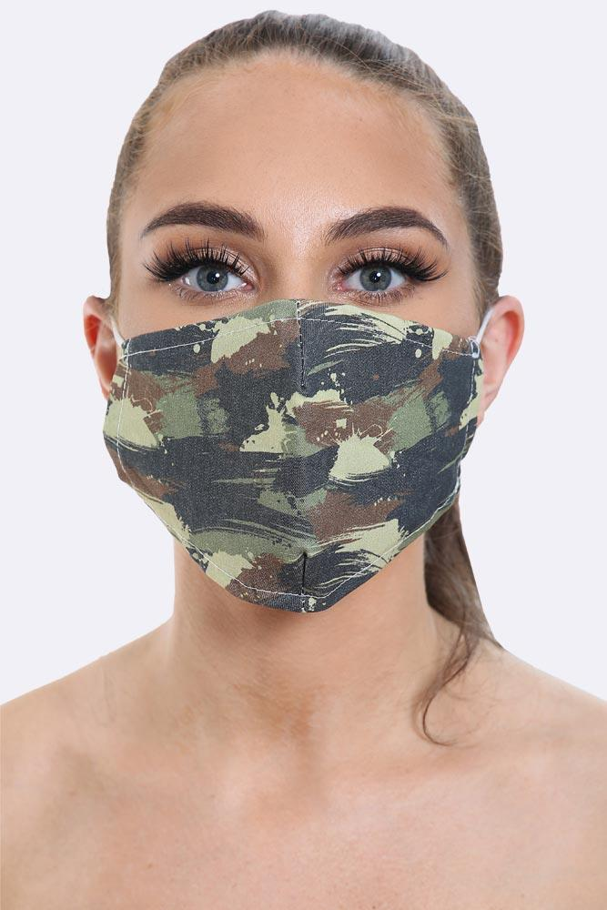Brush Camou Printed Face Mask Cover