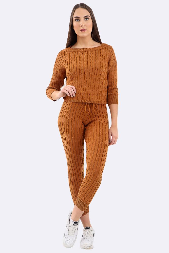 Chunky Cable Knit Tracksuit