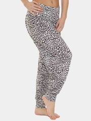 Wholesale Ali Baba Leopard Black Full Length Harem Trousers (Pack Of 6)